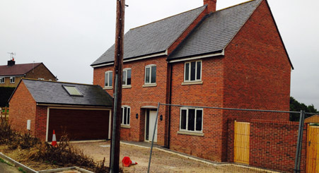 New Build houses at Goughs Lane